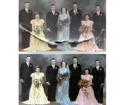 Old Wedding Picture Restoration